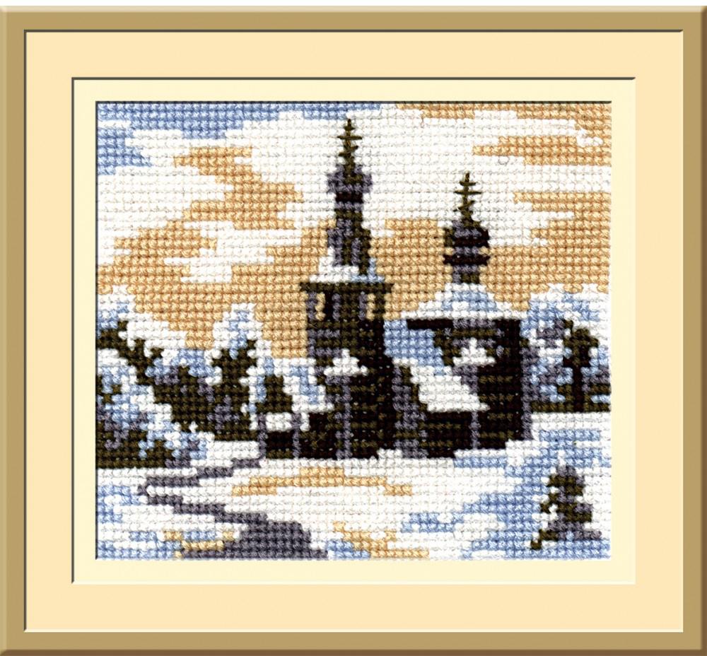 Набор для вышивания крестом Пейзаж в овале, 13 х 15 см С-091 набор для вышивания крестом пейзаж в овале 13 х 15 см с 091