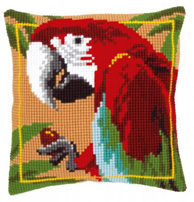 """Набор для вышивания подушки Vervaco """"Красный ара"""", 40 х 40 см"""