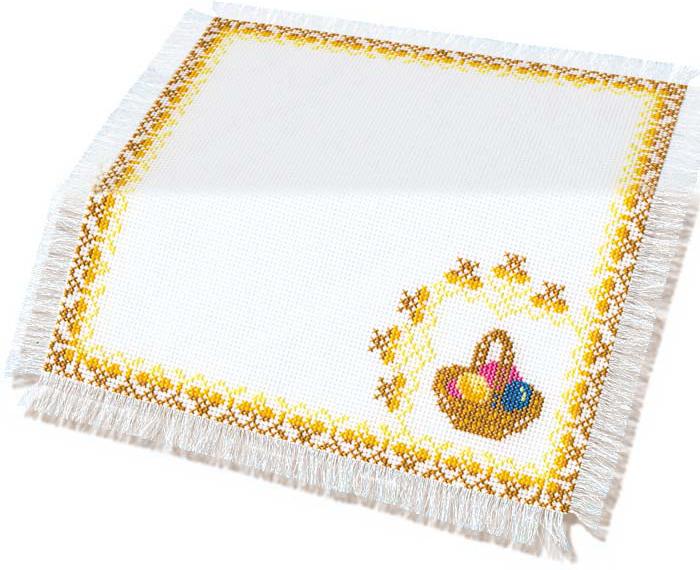 Набор для вышивания Салфетка Пасхальная, 27 см х 27 см
