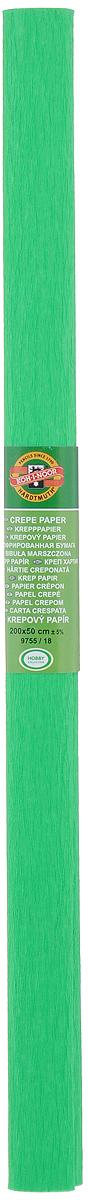 Бумага гофрированная Koh-I-Noor, цвет: зеленый, 50 см x 2 м бумага гофрированная koh i noor цвет голубой 50 см x 2 м