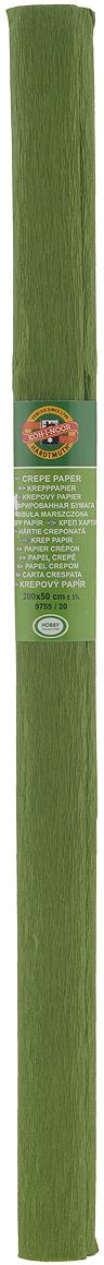 Бумага гофрированная Koh-I-Noor, цвет: оливковый, 50 см x 2 м бумага гофрированная koh i noor цвет голубой 50 см x 2 м