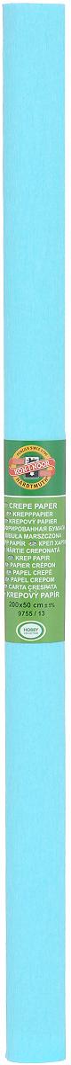 Бумага крепированная Koh-I-Noor, цвет: светло-бирюзовый, 50 см x 2 м лекало гибкое koh i noor 50 см