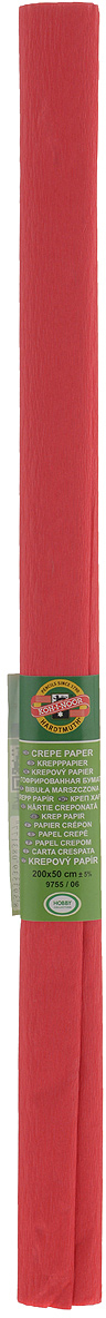 Бумага гофрированная Koh-I-Noor, цвет: светло-красный, 50 см x 2 м бумага гофрированная koh i noor цвет голубой 50 см x 2 м