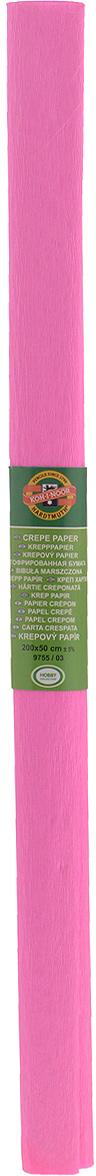 Бумага гофрированная Koh-I-Noor, цвет: светло-розовый, 50 см x 2 м бумага гофрированная koh i noor цвет голубой 50 см x 2 м