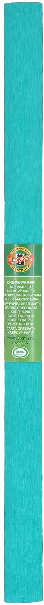 Бумага гофрированная Koh-I-Noor, цвет: бирюзовый, 50 см x 2 м бумага гофрированная koh i noor цвет голубой 50 см x 2 м