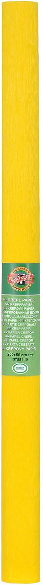 Бумага гофрированная Koh-I-Noor, цвет: темно-желтый, 50 см x 2 м бумага гофрированная koh i noor цвет голубой 50 см x 2 м