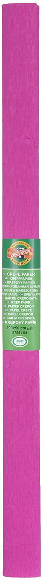 Бумага гофрированная Koh-I-Noor, цвет: фуксия, 50 см x 2 м бумага гофрированная koh i noor цвет голубой 50 см x 2 м