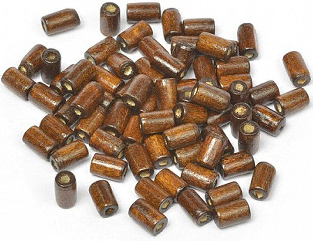 Бусины Magic Hobby, деревянные, цвет: коричневый, 10 х 4 мм, 40 г. MG-B 481.1 набор махрового фоамирана magic hobby 2 мм 20 х 30 cм 10 шт mg tow assor 2