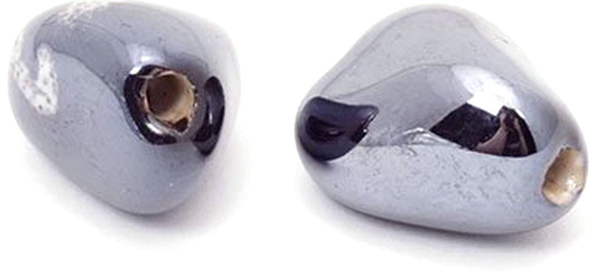 Бусины Tesоro, керамические, цвет: черный, 18 х 14 мм, 2 шт музыка и многое другое ohto cb 10mj гранд серии пера черные керамические бусины 0 5мм черный full metal сделано в японии