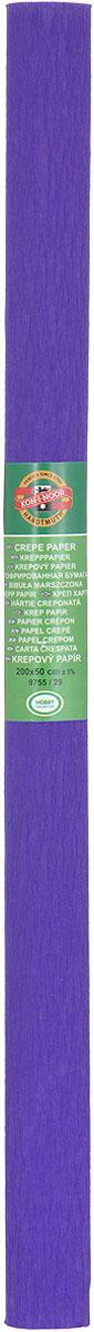 Бумага гофрированная Koh-I-Noor, цвет: темно-сиреневый, 50 см x 2 м бумага гофрированная koh i noor цвет голубой 50 см x 2 м