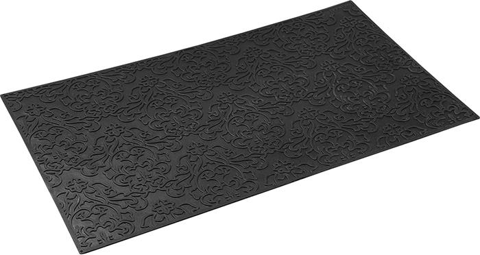 Коврик придверный Vortex Узор, грязесборный, цвет: черный, 35 х 60 см коврик придверный vortex клен грязесборный цвет черный 40 х 60 см