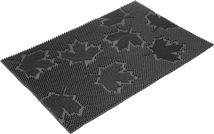 Коврик придверный Vortex Клен, грязесборный, цвет: черный, 40 х 60 см коврик придверный vortex клен грязесборный цвет черный 40 х 60 см