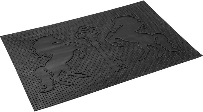 Коврик придверный Vortex Ключ, грязесборный, цвет: черный, 40 х 60 см коврик придверный vortex клен грязесборный цвет черный 40 х 60 см