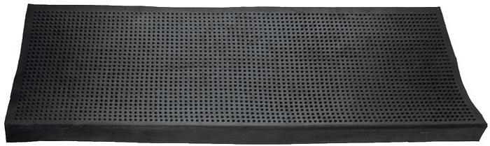 Коврик Vortex на ступеньку, цвет: черный, 25 см х 75 см коврик vortex на ступеньку цвет коричневый 25 х 65 см