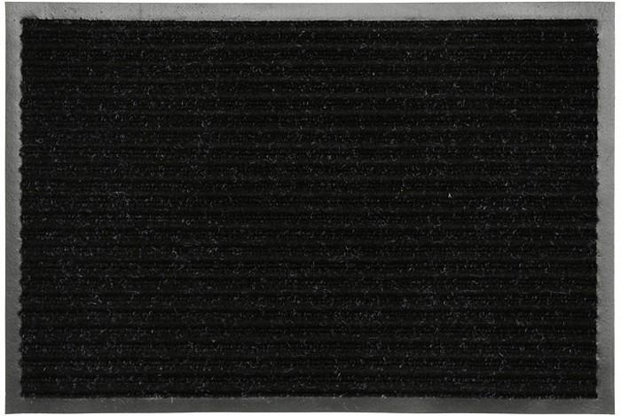 Коврик придверный Vortex, влаговпитывающий, цвет: черный, 50 см х 80 см коврик придверный vortex влаговпитывающий цвет коричневый 50 см х 80 см