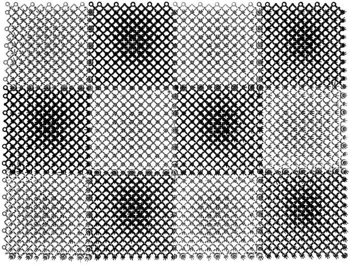 Коврик Травка, цвет: черный, серый, 42 х 56 см коврик vortex травка темно коричневый 60х90см на противоскользящей основе