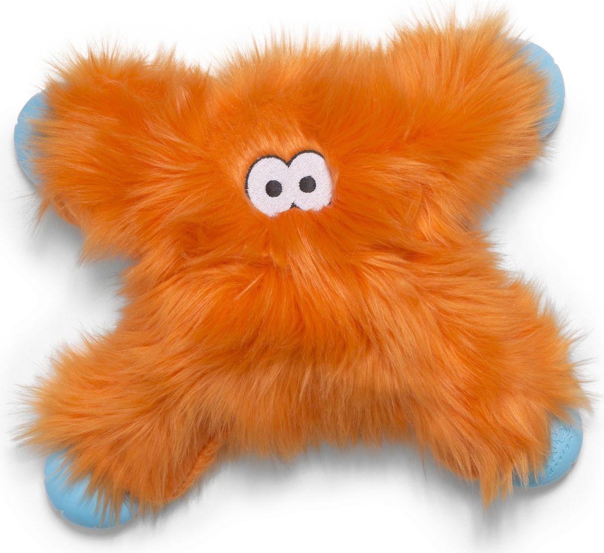 Игрушка для собак Zogoflex Rowdies Lincoln, цвет: оранжевый, 28 см zogoflex zogoflex игрушка для собак мячик jive xs 5 см оранжевый