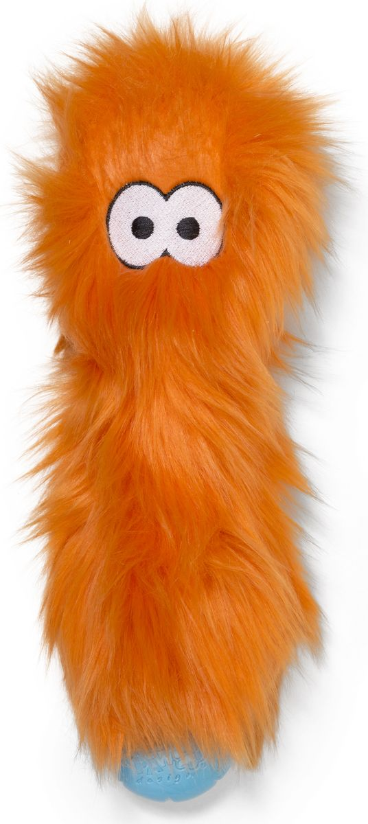 Игрушка для собак Zogoflex Rowdies Custer, цвет: оранжевый, 10 см zogoflex zogoflex игрушка для собак мячик jive xs 5 см оранжевый