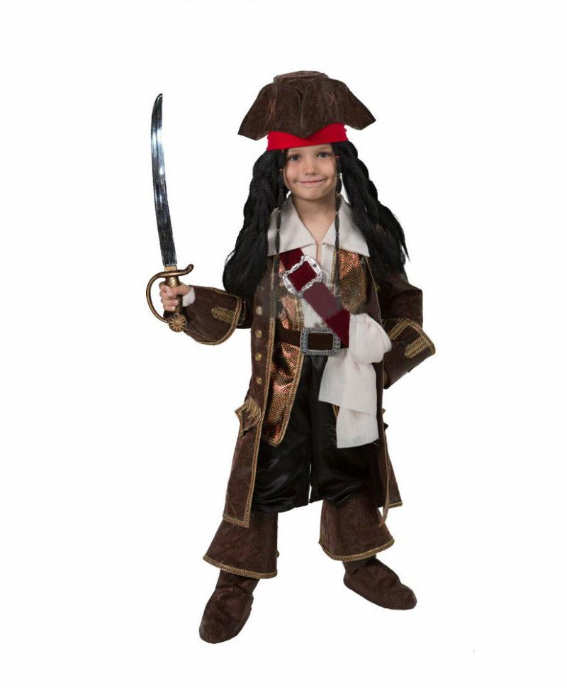 Батик Костюм карнавальный для мальчика Капитан Джек Воробей размер 32