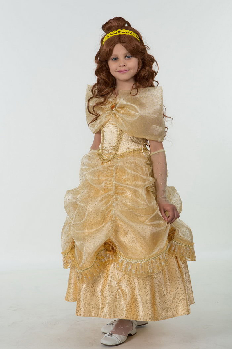 Батик Костюм карнавальный для девочки Принцесса Белль размер 38 уолт дисней приключения начинаются