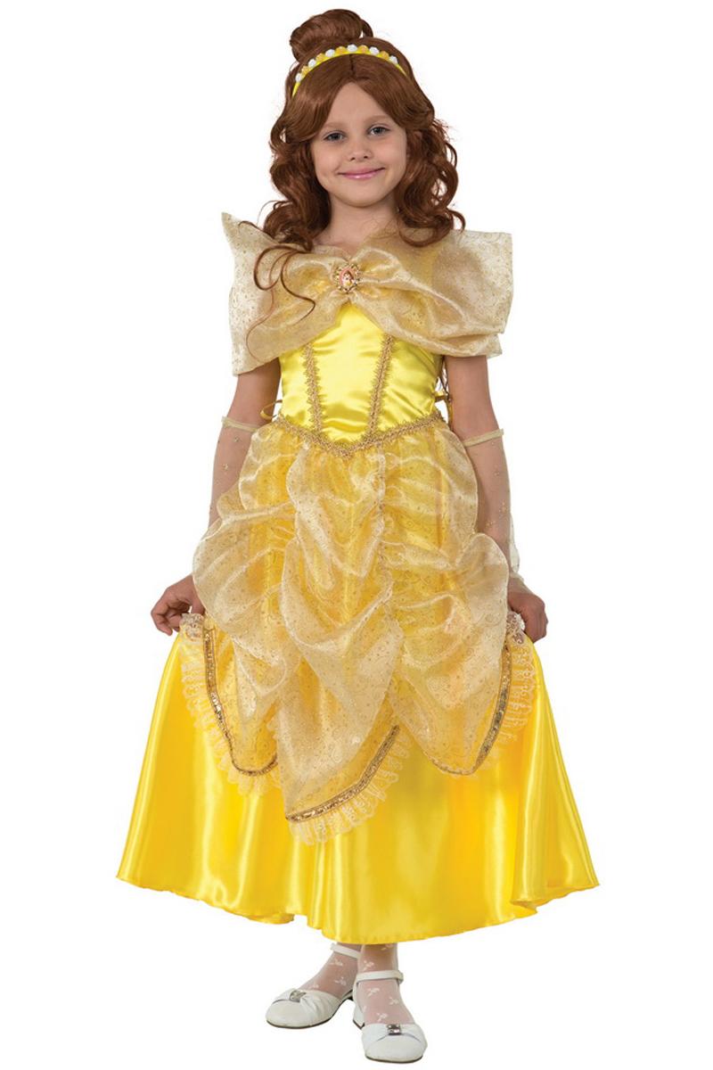 Батик Костюм карнавальный для девочки Принцесса Белль размер 36 уолт дисней приключения начинаются
