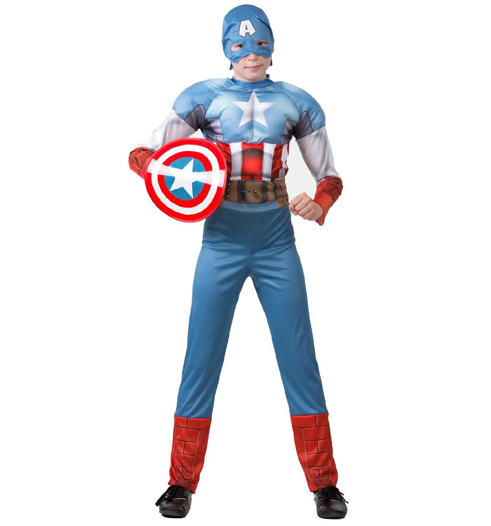 Батик Костюм карнавальный для мальчика Капитан Америка размер 28 набор карнавальных масок эврика америка xx век 8 предметов
