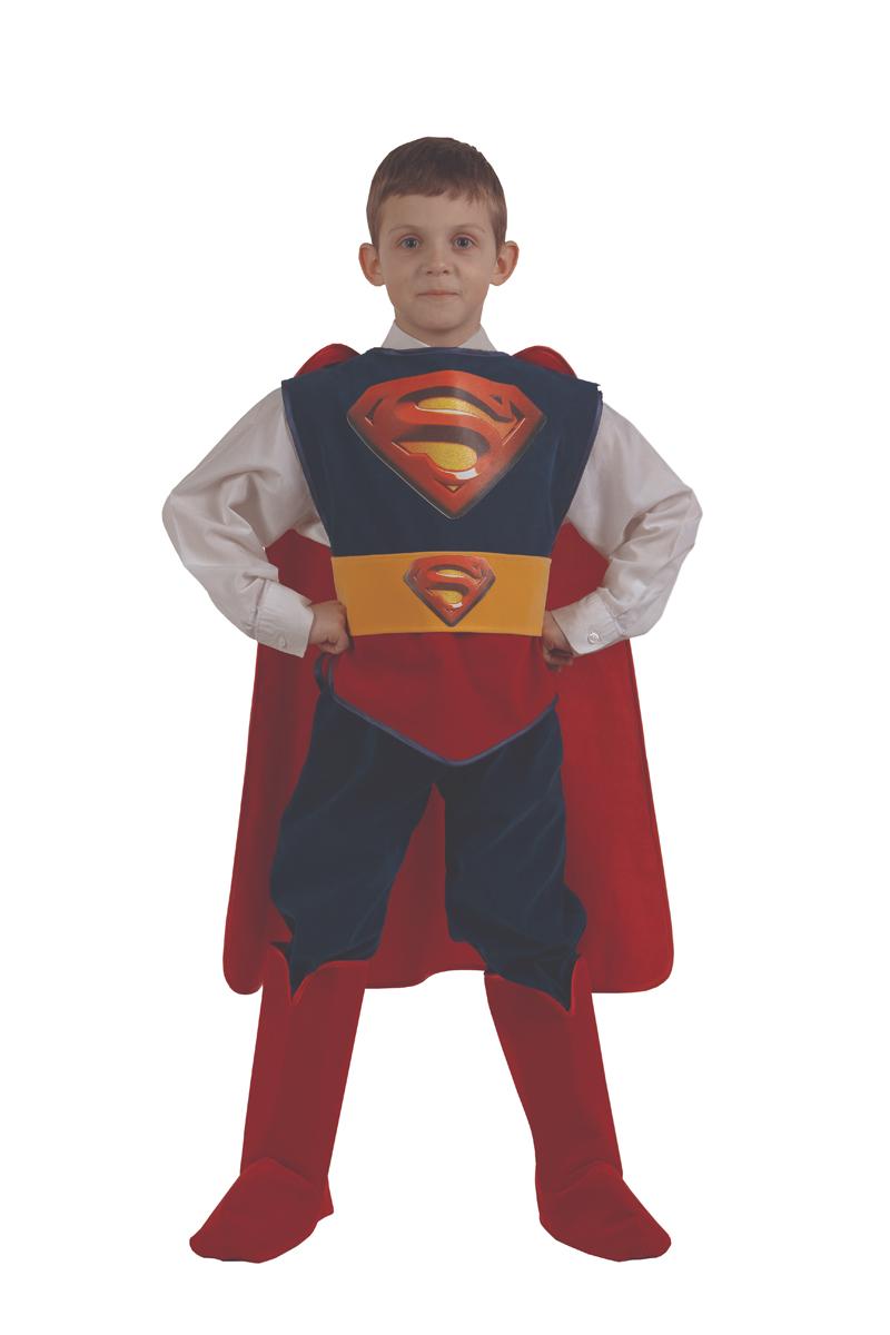 Батик Костюм карнавальный для мальчика Супермен размер 30