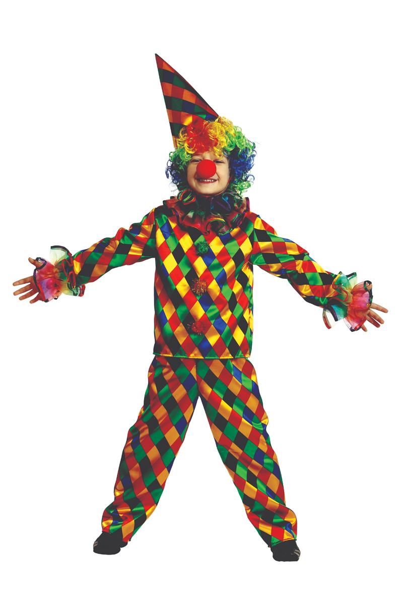Батик Костюм карнавальный для мальчика Арлекино размер 32
