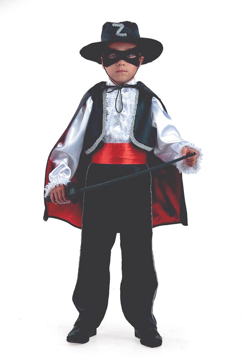 Батик Костюм карнавальный для мальчика Зорро размер 30 батик костюм карнавальный для мальчика король цвет красный белый размер 30