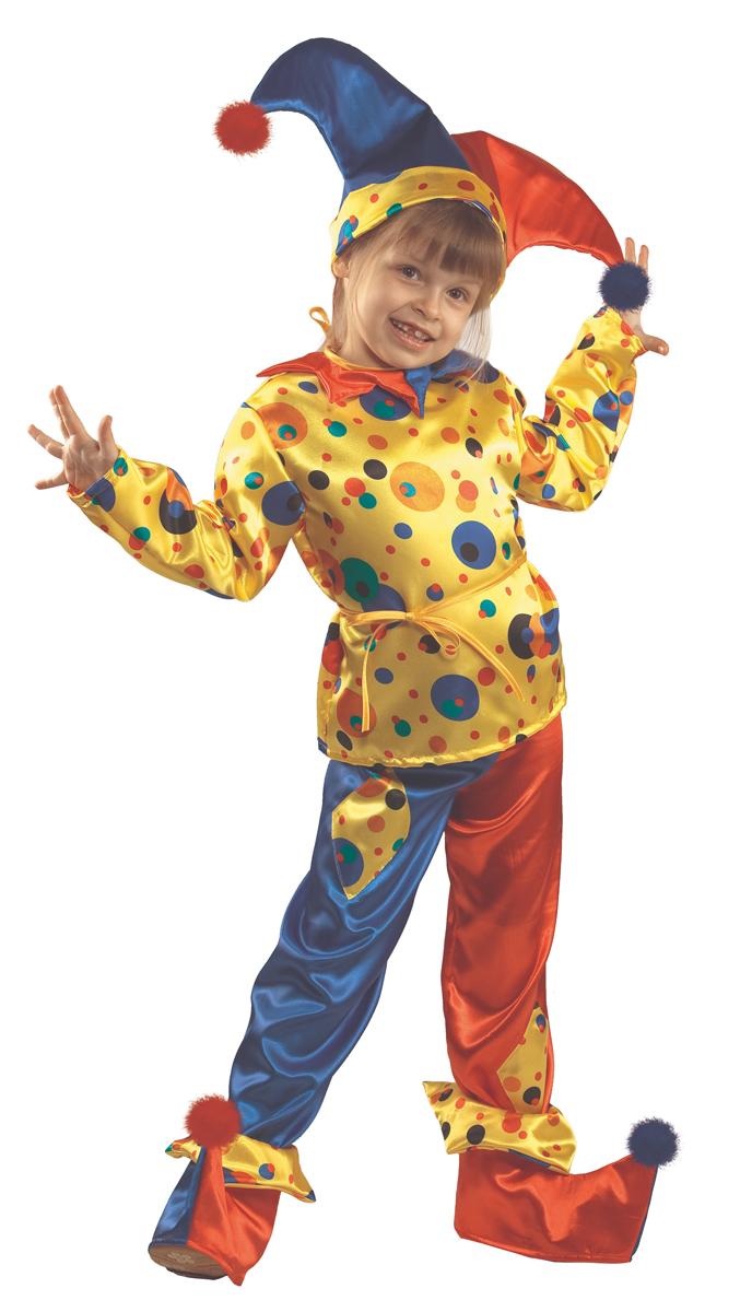 Батик Костюм карнавальный для мальчика Петрушка размер 40