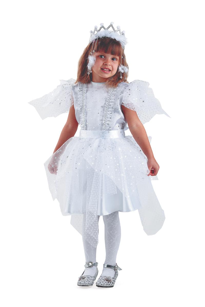 Батик Костюм карнавальный для девочки Снежинка Серебряная размер 34