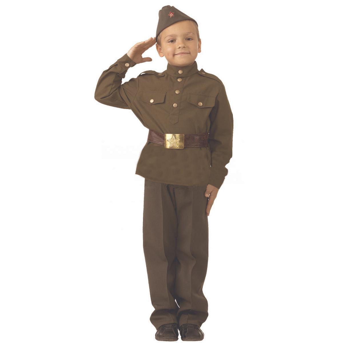 Батик Костюм карнавальный для мальчика Солдат размер 38