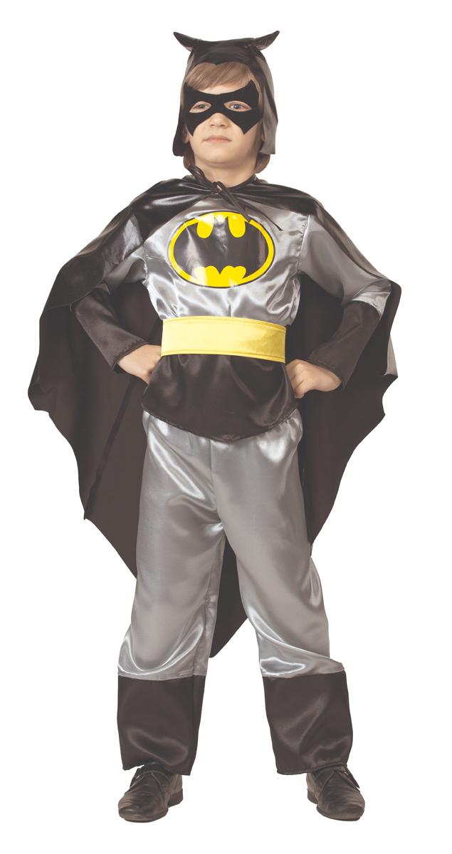 Батик Костюм карнавальный для мальчика Черный Плащ цвет черный серый желтый размер 26 батик костюм карнавальный для мальчика черный плащ размер 28