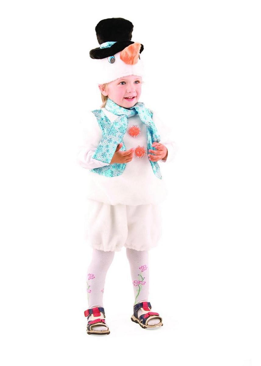 Батик Костюм карнавальный для мальчика Снеговичок размер 26-28