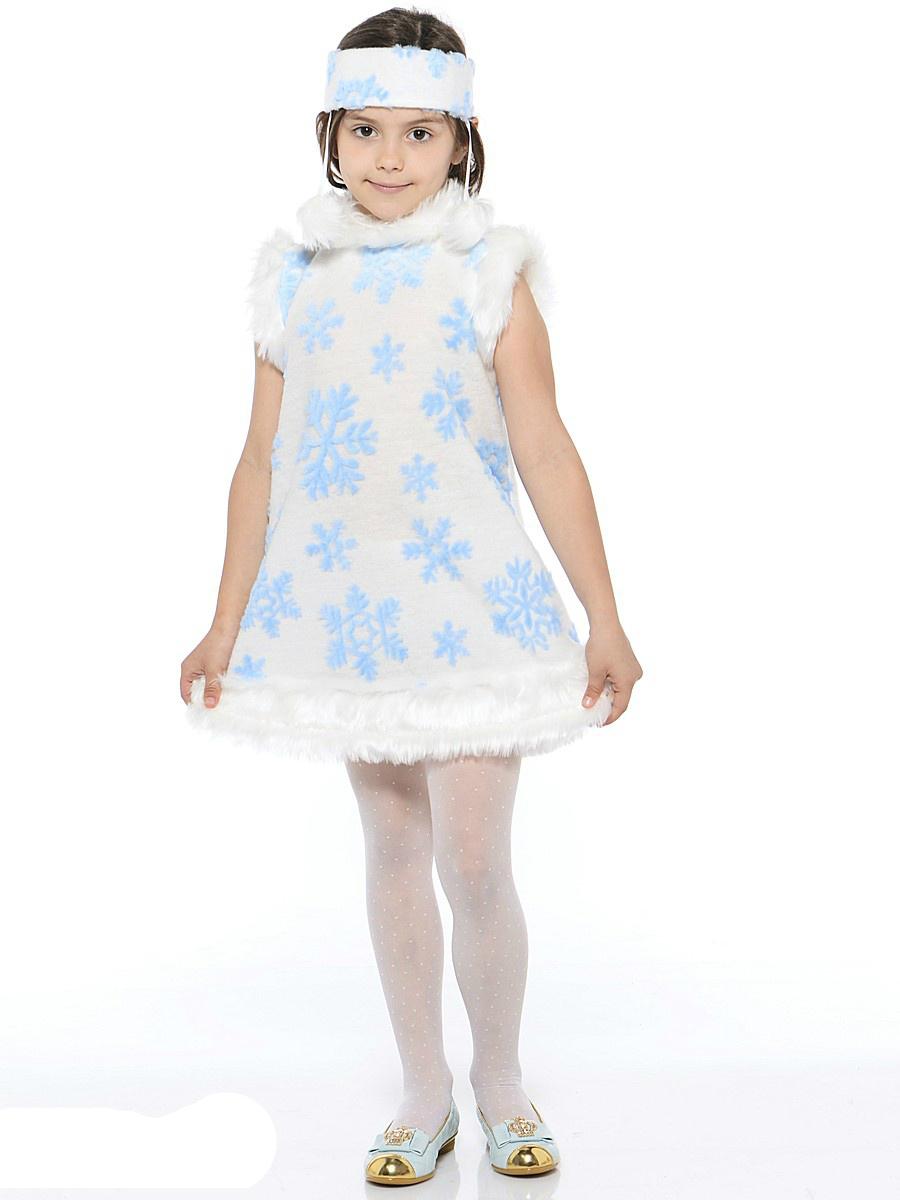 Батик Костюм карнавальный для девочки Снежинка размер 30-32