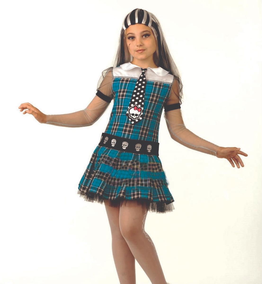 Батик Костюм карнавальный для девочки Фрэнки Штейн размер 38