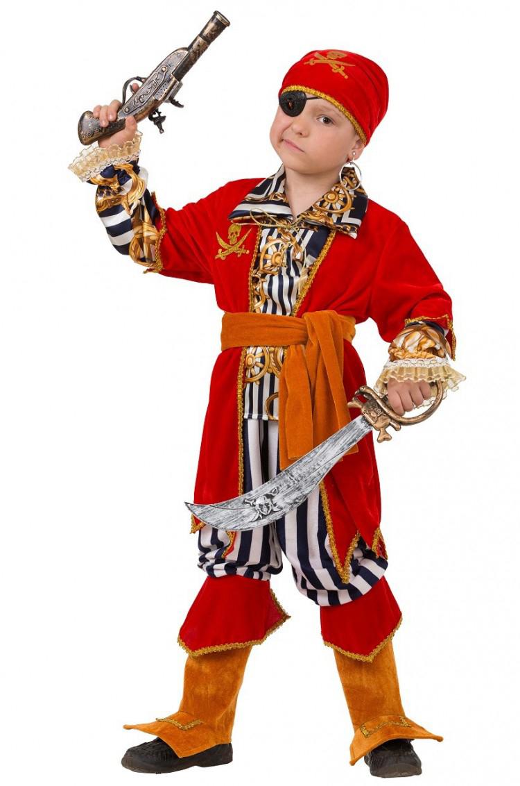 Батик Костюм карнавальный для мальчика Пират Морской размер 32