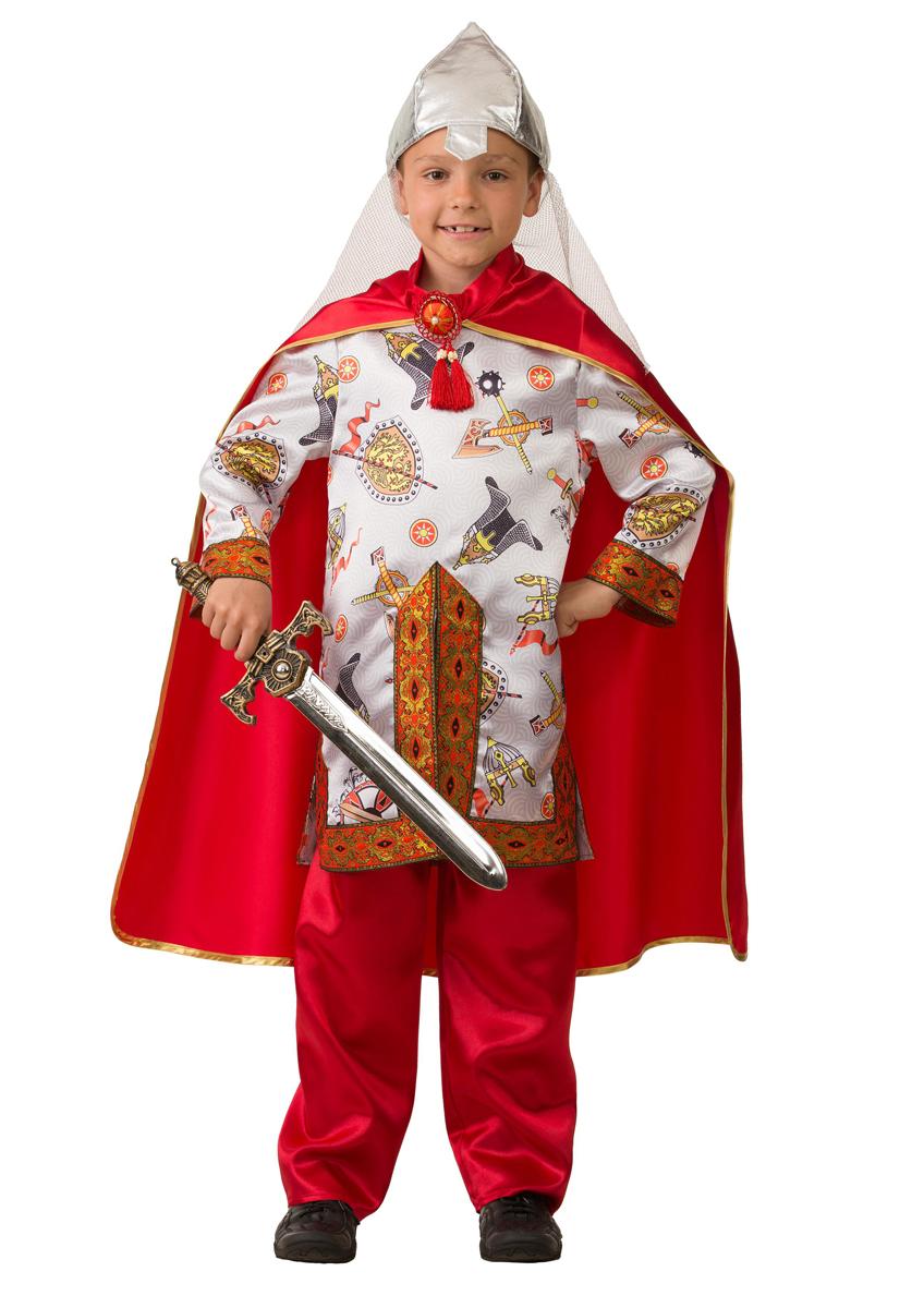 Батик Костюм карнавальный для мальчика Богатырь сказочный размер 28 батик костюм карнавальный для мальчика мушкетер сказочный размер 28