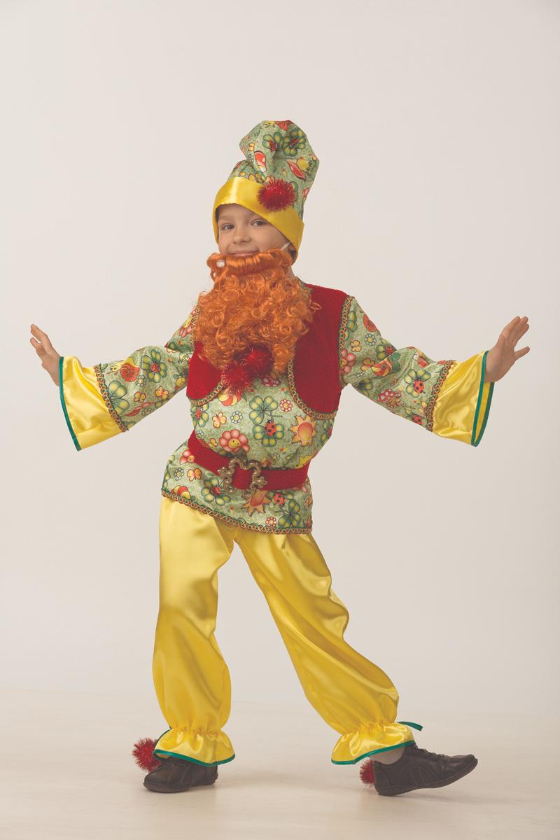 Батик Костюм карнавальный для мальчика Гномик сказочный размер 34