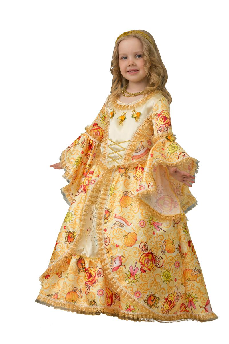 Батик Костюм карнавальный для девочки Золушка сказочная размер 28 батик костюм карнавальный для девочки зайка размер 28