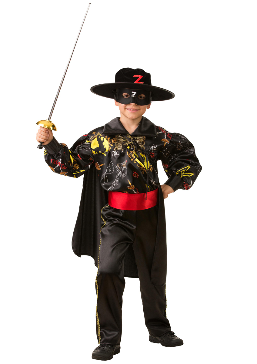Батик Костюм карнавальный для мальчика Зорро сказочный размер 26 батик костюм карнавальный для мальчика мушкетер сказочный размер 28
