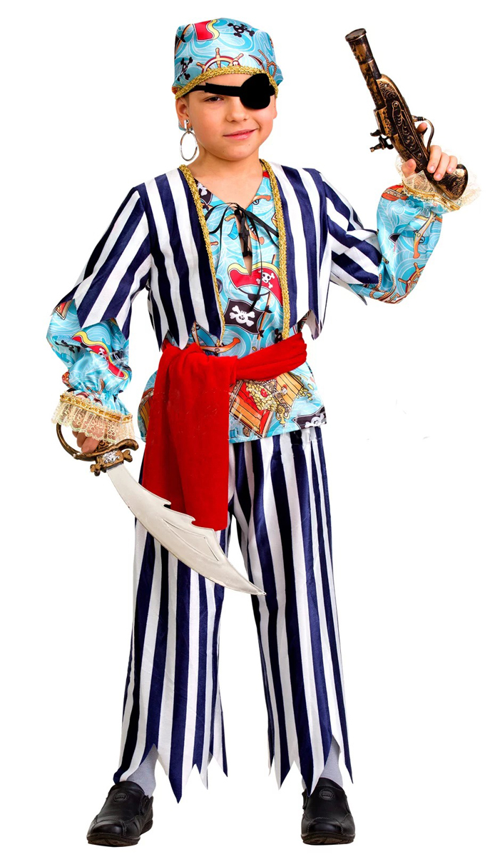 Батик Костюм карнавальный для мальчика Пират сказочный размер 36