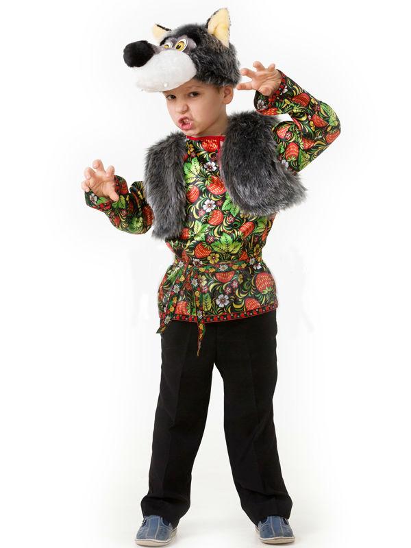 Батик Костюм карнавальный для мальчика Волчонок Еремка размер 26 купить золото по низким ценам в москве