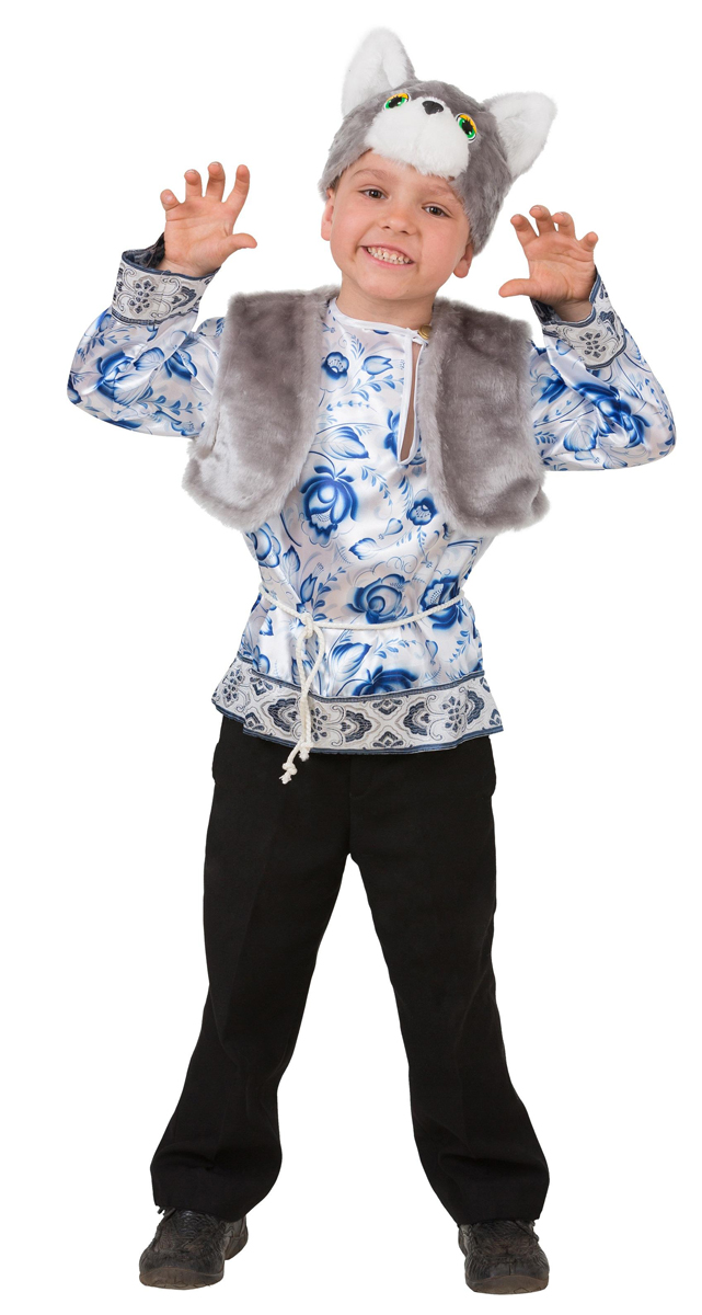 Батик Костюм карнавальный для мальчика Котик Макарка размер 26