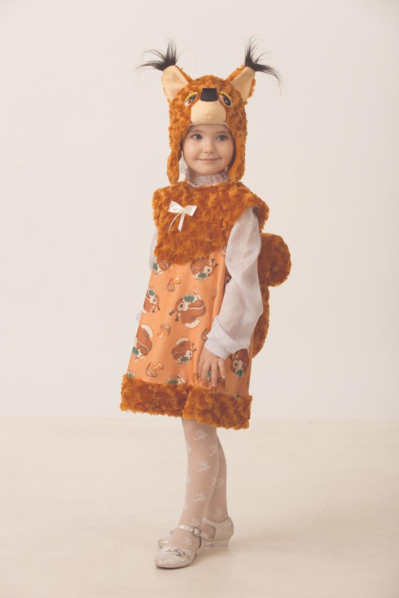 Батик Костюм карнавальный для девочки Белочка Тоська размер 28 батик костюм карнавальный для девочки зайка размер 28