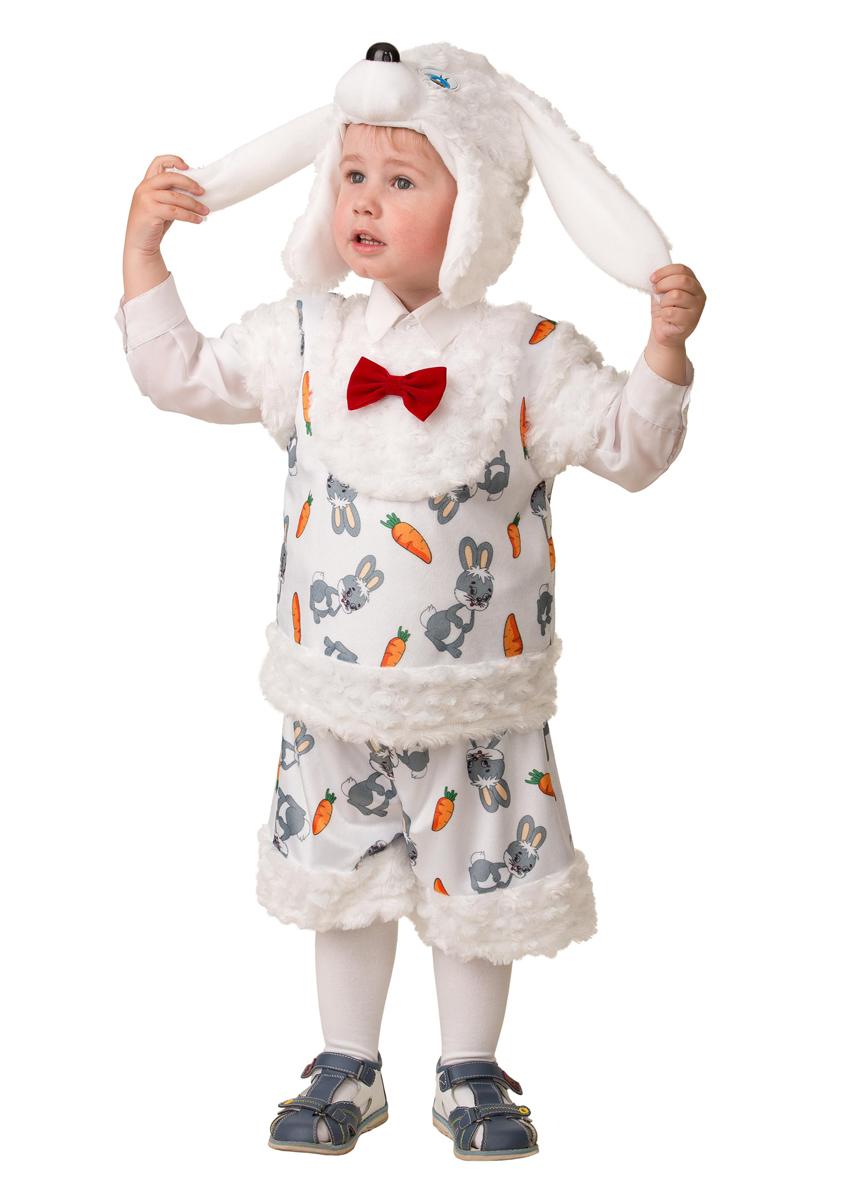 Батик Костюм карнавальный для мальчика Зайчонок Плутишка размер 26