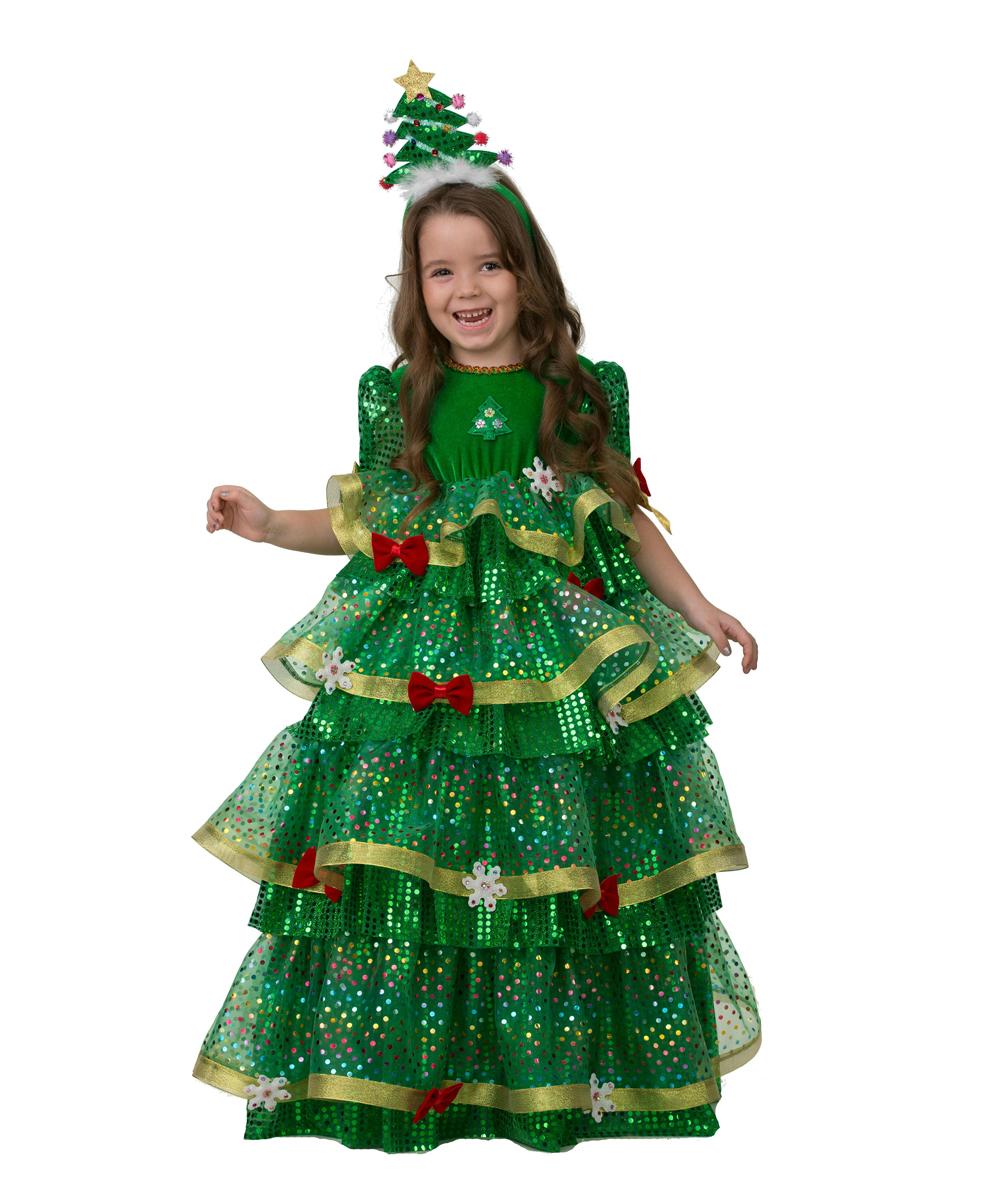 Батик Костюм карнавальный для девочки Елочка-Царица размер 28 батик костюм карнавальный для девочки зайка размер 28