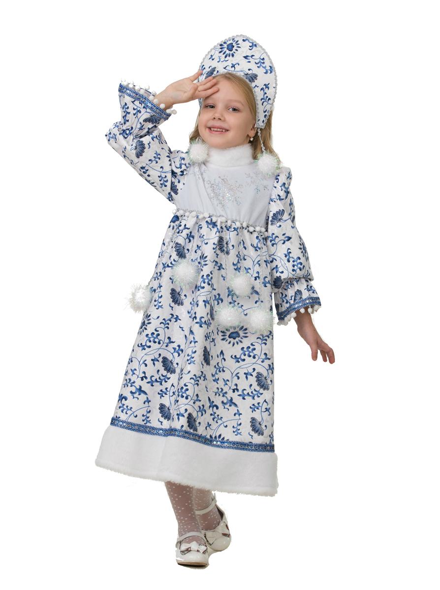 Батик Костюм карнавальный для девочки Снегурочка Ледянка размер 30 батик костюм карнавальный для девочки зайка зоська размер 30 32
