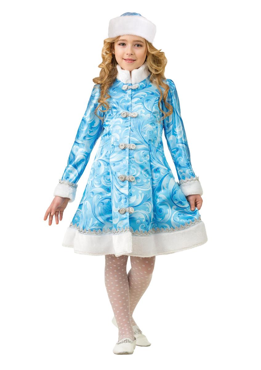 Батик Костюм карнавальный для девочки Снегурочка сказочная размер 34 карнавальный костюм jeanees зайка капризка цвет голубой размер 24