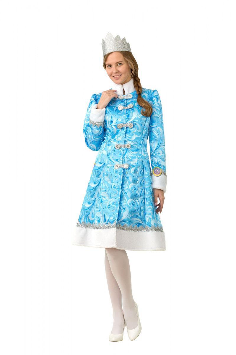 Батик Костюм карнавальный взрослый Снегурочка сказочная размер 48 недорго, оригинальная цена